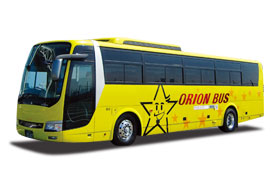 OT5255 オリオンバス 関東⇒名古屋 夕方便 ゆったりワイドシート☆コンセントまたはUSBジャック付☆